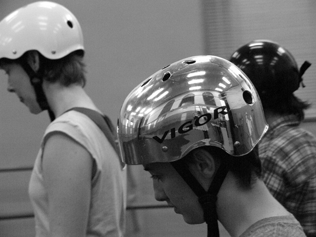 Helmet black and white