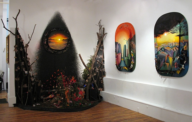Toxic Paradise Refuse Garden Installation (gallery view)  FusionArts Museum Lower East Side, NYC
