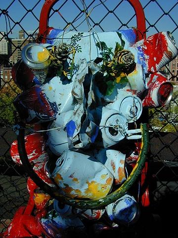Head on a Bike C.U.A.N.D.O. Installation (detail) East Village, NYC