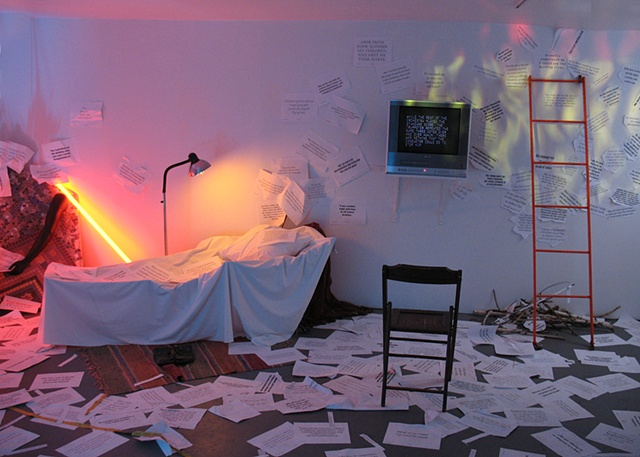 """""""Epiphanies"""" Installation/Performance  FusionArts Museum Lower East Side, NYC"""