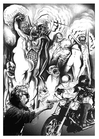 Shalom Neuman -Belle Catastrophe lithograph