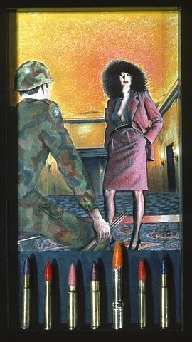 Lipstick Bullets, sculptural paintiings, Shalom Neuman