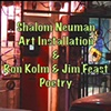 Ron Kolm and Jim Feast poetry for Lamed Vav Exhibit