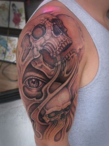 skull, skulls, skull tattoo, markus anacki, kaleidoscope tattoo, cambridge, black and gray, boston, tattoo, markus, cambridge tattoo, boston tattoo, tattoo shop, tattoo shop cambridge, boston tattoo convention,