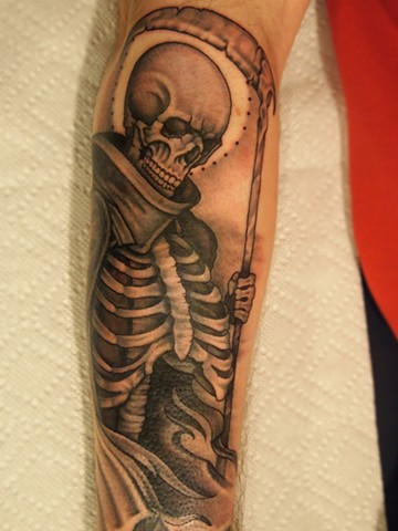 angel of death, grim reaper, reaper, reaper tattoo, grim reaper tattoo, markus, markus anacki, kaleidoscope tattoo, cambridge, black and gray, boston, tattoo, markus, cambridge tattoo, boston tattoo, tattoo shop, tattoo shop cambridge, boston tattoo conve