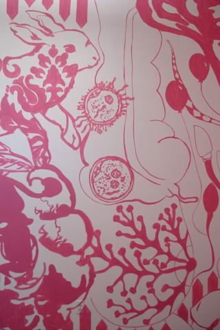 Mural, detail 1