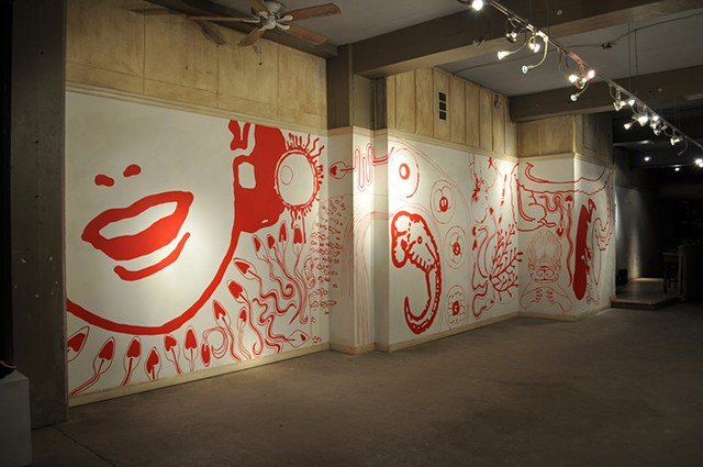 Wall Painting Installation View 1