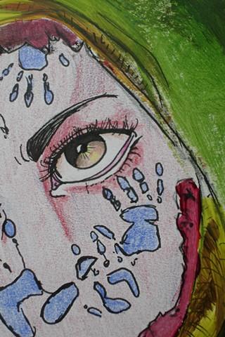 2-D Design  Self-Portrait Detail