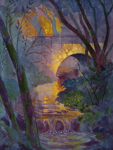 Strawberry Creek Bridge, UC Berkeley Campus, Pedro J. Lemos