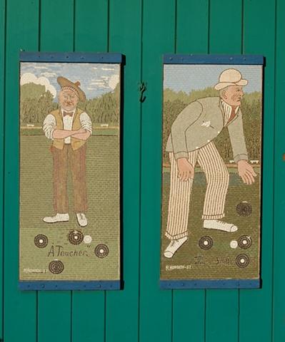Lawn Bowling Mosaics