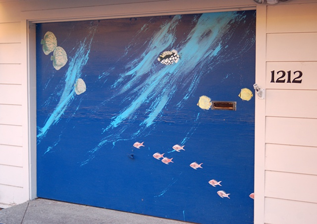 Aquarium Garage Door