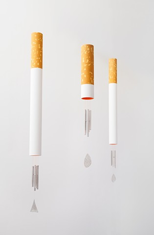 Installation shot -- cigarette chimes