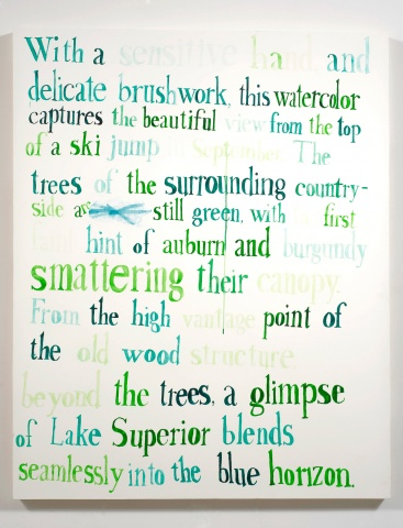"text watercolor drawing ""Ski Jump"" by artist Joe Hardesty"