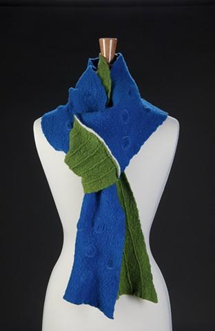Textured Blue/Green Half & Half