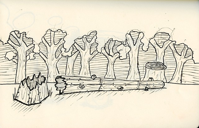 Sketch of proposed sculpture