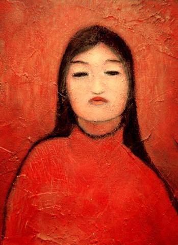 fan in red