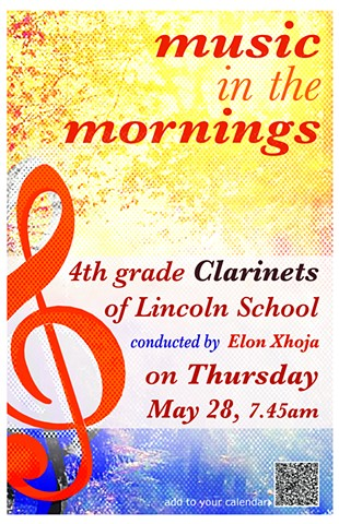 Music in the mornings Poster. Lincoln School.
