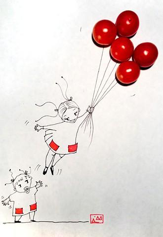 flying fantasy of our older daughter