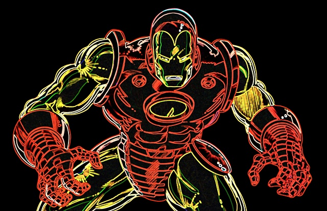 Iron Man Pop Art Print
