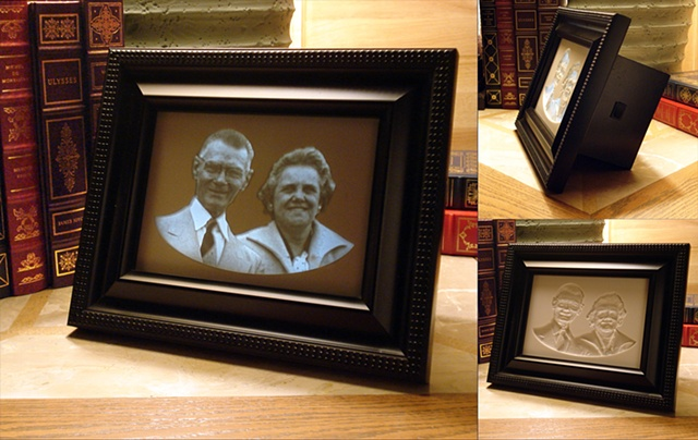 Carved 5x7 Framed Backlit Lithophane Custom Keepsake