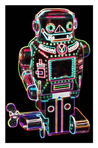 Pop Art Mechanical Mighty Sparking Robot