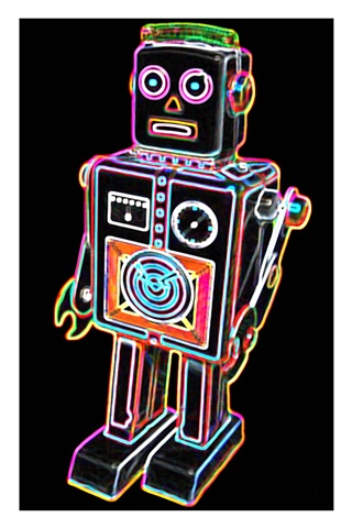 Pop Art toy robot print
