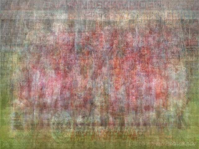 UEFA AFC Ajax blurred blurry print soccer football Larkin team photo