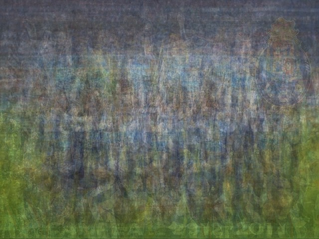 UEFA FC Porto blurred blurry print soccer football Larkin team photo
