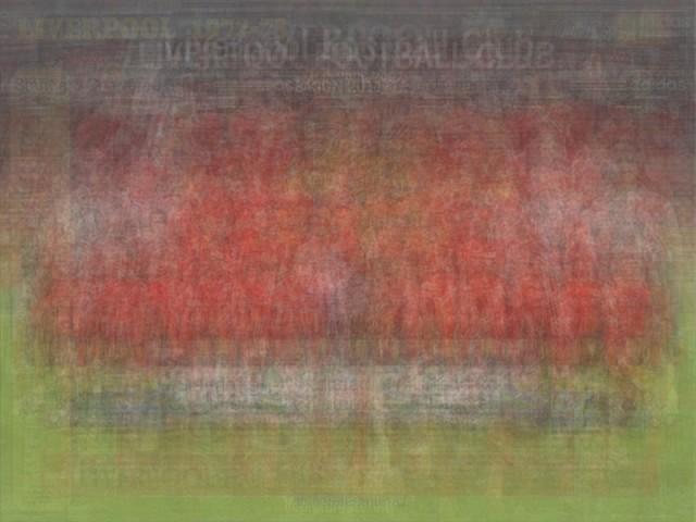 UEFA Liverpool blurred blurry print soccer football Larkin team photo