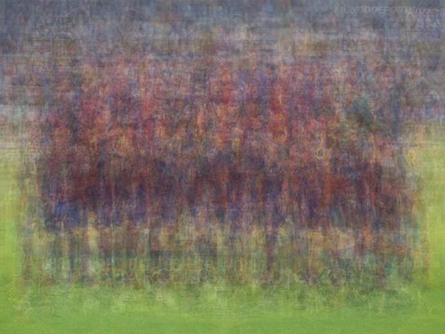 UEFA Barcelone Barca blurred blurry print soccer football Larkin team photo