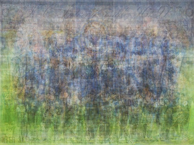 UEFA Inter Milan blurred blurry print soccer football Larkin team photo