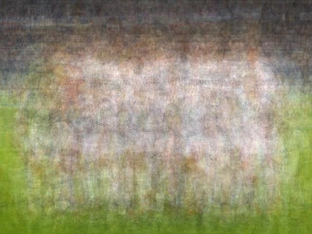 UEFA Real Madrid blurred blurry print soccer football Larkin team photo