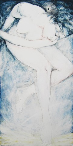 contemporary figure painting, figure drawing, nude female painting, figurative art