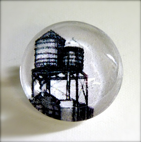 glass cabochon pin