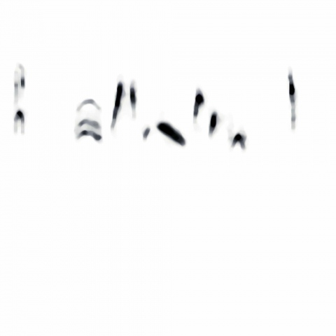 "Sonogram of a Woodthrush ""I am still here"""