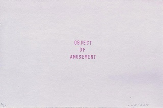 object of amusement