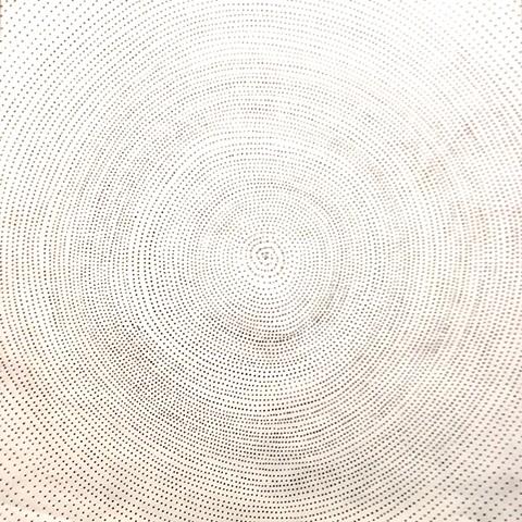 Black Ink Cosmos on White Tyvek Field