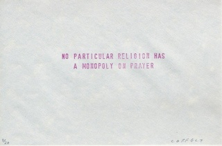 no particular religion has a monopoly on prayer