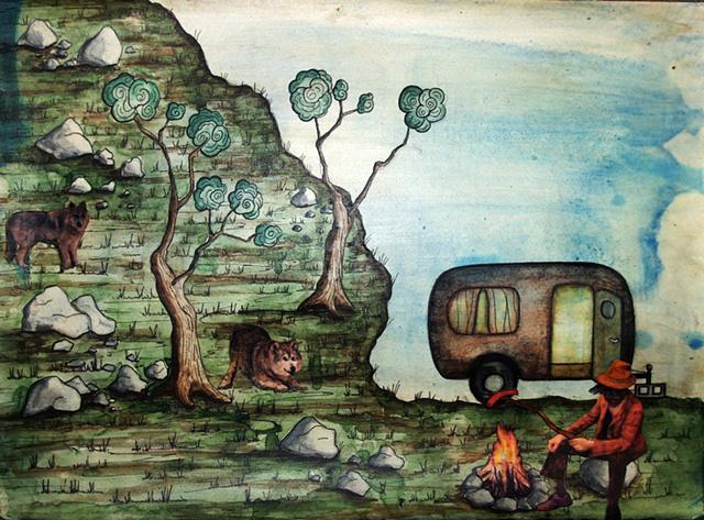 Jeffrey Schweitzer The Drifter: Campsite