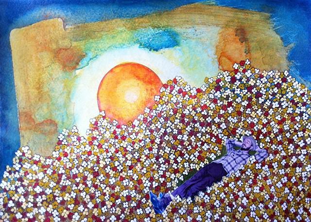 Jeffrey Schweitzer The Drifter: Lying Among the Flowers at Dawn