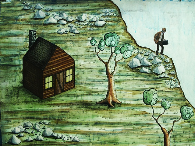 Jeffrey Schweitzer The Drifter: Crossing Old Man Wilson's Farm (detail)