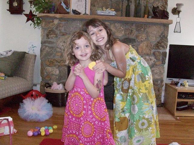 My girls - Carmen (8) and Navey (4)