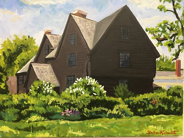 House of Seven Gables, Plein Air, acrylic on canvas, 2016
