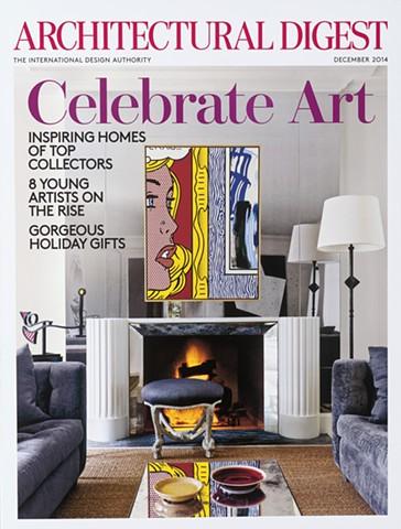 Architectural Digest Magazine December 2014 issue