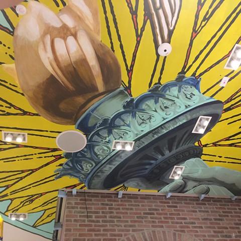 Kiehl's Mural, WTC, detail