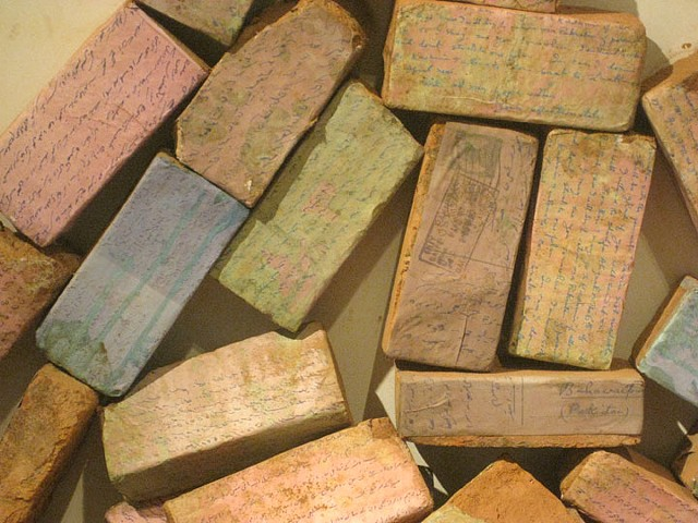 Partition, letters, India, Pakistan, letter, mail, bricks, sand, house, home, history, migration, travel