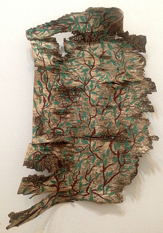 Birch Bark Drawing #17