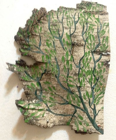Birch Bark Drawing #18