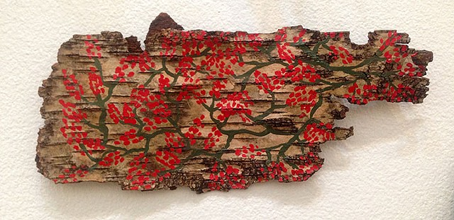 Birch Bark Drawing #15