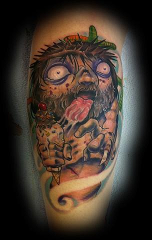 Eric James tattoo, blind tiger tattoo, zombie tattoo, jesus tattoo, color tattoo, new school tattoo, arizona tattoo, phoenix tattoo